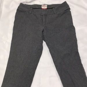Merona womens gray stretch capri pants